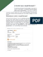 Comment écrire un e-mail formel ?