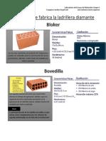 Tipos de Ladrillos de la fabrica diamante