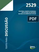 2019.12 TD IPEA 2529 - Sandro Pereira da Silva - Trajetória e Padrões de Mudança Instituci
