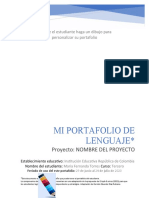 Portada y hojas internas del Portafolio