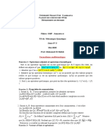 TD5_Mécanique Quantique_Formalisme mathématique