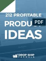 212 Profitable Product Ideas