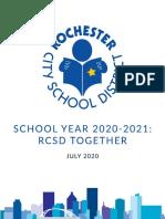 School Year 2020-2021 RCSD Together