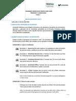 Términos y condiciones 2020 Incentivos Ciclo I