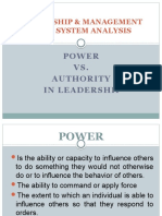 LEADERSHIP & MANAGEMENT WITH SYSTEM ANALYSIS
