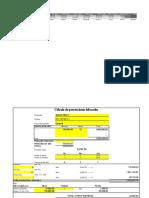 Plantilla Calculo Prestaciones Laborales Modulo 7 JOHANNA MOTA