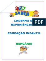 CADERNO DE EXPERIÊNCIAS BERÇário