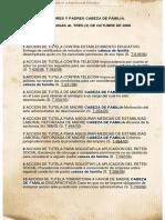 Sentencias FAMILIA MADRES Y PADRES CABEZA DE FAMILIA