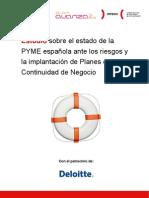 Estudio sobre el estado de la PYME española ante los riesgos y la implantación de Planes de Continuidad de Negocio - INTECO