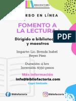 Poster promocional fomento a la lectura I