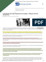 A Pandemia de Gripe Espanhola em Sergipe – 1918 (por Antonio Samarone). _ 93 Notícias