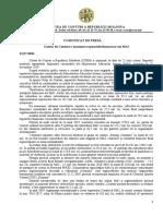 Auditul Curții de Conturi în urma examinării rapoartelor financiare ale MAI pentru 2019