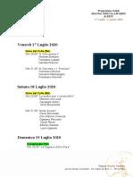 Programma Eventi MGA&FEST 2020