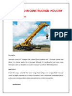 CRANES USED IN CONSTRUCTION INDUSTRY