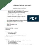 Generalidades de Oftalmología