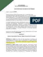 Acta Privada - de constitución S.A.S.