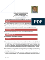 1 CV of Mohammad Arshad