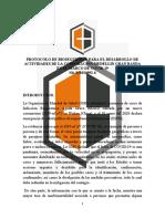 PROTOCOLO DE BIOSEGURIDAD BANDAS DE MARCHA