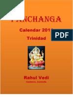Panchanga Calendar 2011 for Trinidad and North America