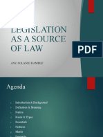LEGISLATION AS A SOURCE OF LAW