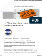 GDPR and Data Privacy Subject Access Request (SAR) template