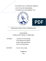 REMUNERACIÓN - LEGISLACIÓN LABORAL Y TRIBUTARIA