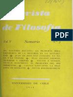 Revista de Filosofia Vol. V - Nicolai Hartmann, El problema del ser Espiritual [Universidad de Chile - 1958].pdf