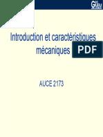 Introduction et caractéristiques mécaniques