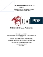 TAREA ECUACIONES DE VALOR SEMANA 6 SILVA VALER ALEX SANDRO (2015153985) CUSCO