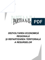 Partea a II-A - Dezvoltarea Economica Regionala Si Repartizarea Teritoriala a Resurselor