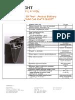Baterías Sunlight STB150 (UPS225)