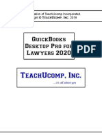 2020 QuickBooks Desktop Pro for Lawyers Manual
