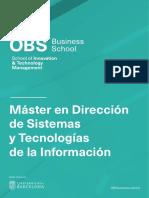 PDF Programa - Máster en Dirección de Sistemas y Tecnologías de la Información 2020