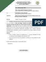 INFORME Nº 007 paprobacion de plan de trabajo