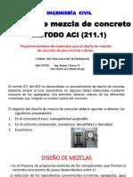 Clase 8. Diseño de Mezcla de Concreto