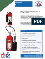 Extintor 5B-C a 10B-C de Dióxido de Carbono de 5 a 20 lb