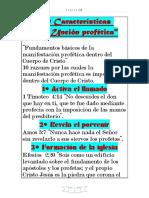 10 Características _de la Unción profética (1)