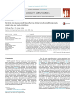Particle mechanics modeling of creep behavior of rockfill materiales under dry and wet conditions