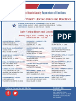 Early Voting hours/locations in Palm Beach County