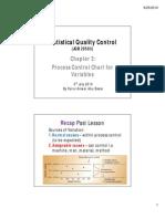 SQC - x bar & R chart