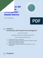 Unidad 3 Formulación del Proyecto de Investigación