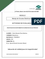 INVESTIGACION DE INSTRUMENTOS DE MEDICION DE ELECTRICIDAD