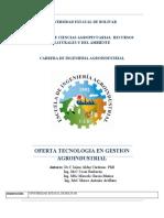 CARRERA TECNOLOGIA EN GESTION AGROINDUSTRIAL 2017-2017