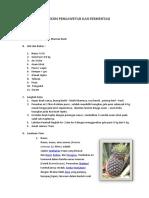 Praktikum Pengawetan Dan Fermentasi