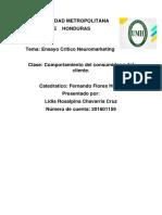 ENSAYO CRITICO NEUROMARKETING- Lidia Chavarria