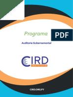 Programa Auditoría Gubernamental  2020