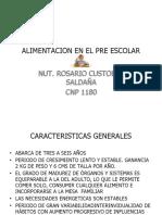 ALIMENTACION EN EL PRE ESCOLAR.pptx