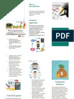 folleto de presupuesto