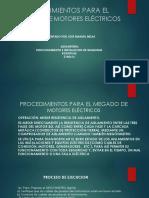 PROCEDIMIENTOS PARA EL MEGADO DE MOTORES ELÉCTRICOS