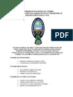 ORINA COMO DIAGNOSTICO PRESUNTIVO DE INFECCIONES DEL TRACTO URINARIO EN PERSONAS DE GÉNERO FEMENINO DE PRIMER